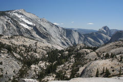 Half Dome and Cloud's Rest Royalty Free Stock Photography