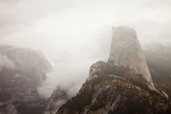 Half Dome in Clouds Royalty Free Stock Images