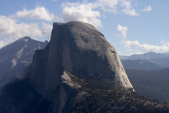 Half Dome with Cloudy Blue Sky Royalty Free Stock Photos