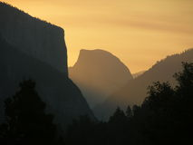 Half Dome at Dawn Royalty Free Stock Image