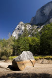 Half Dome from a dry river bed, Yosemite National Park,California, USA Stock Photography