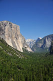 Half-Dome and El-Capitan, Yosemite Royalty Free Stock Photo