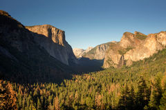 Half Dome and El Capitan. In Yosemite National Park Stock Image