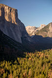 Half Dome and El Capitan. In Yosemite National Park Stock Images