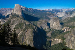 Half Dome with falls Stock Photography