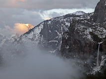 Half dome on fire Stock Photography