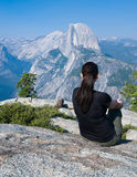 Half Dome From Glacier Point Royalty Free Stock Photography