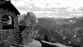 Half Dome and Geology Hut. Royalty Free Stock Photo