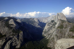 Half Dome from Glacier Point Royalty Free Stock Photos