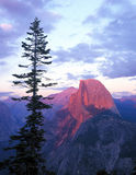 Half Dome from Glacier Point. Half Dome at sunset taken from Glacier Point in Yosemite National Park Stock Photography