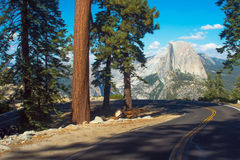 Half Dome & Hairpin Stock Photography