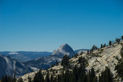Half Dome Landscape In The Distance Royalty Free Stock Image
