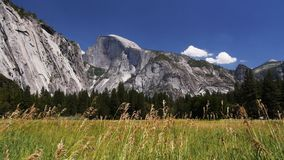 Half dome and meadow Royalty Free Stock Images