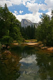 Half dome and mirror lake at Yosemite Royalty Free Stock Photography