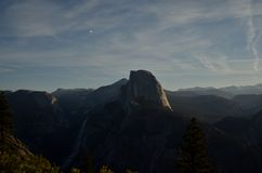Half Dome by Moonlight Stock Photos