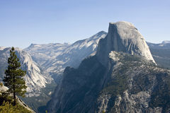 Half dome mountain. In yosemite national park in california Stock Photos