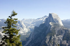 Half dome mountain Stock Image