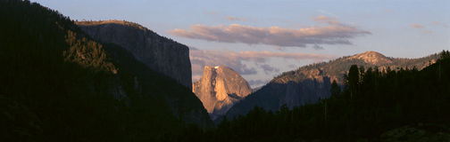 Half Dome Mountain At Sunset, Stock Photos