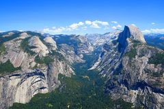 Half Dome Mountain in Yosemite National Park Stock Photo
