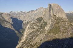 Half Dome Mountain of Yosemite Valley Stock Images