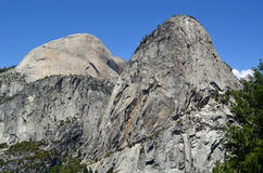 Half Dome, Mt Broderick & Liberty Cap, Yosemite. Half Dome, Mount Broderick & Liberty Cap (rear to front Stock Image