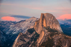 Half Dome. A picture of Half Dome. Half Dome is a granite dome in Yosemite National Park, located in California, at the eastern end of Yosemite Valley — royalty free stock image