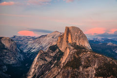 Half Dome. A picture of Half Dome. Half Dome is a granite dome in Yosemite National Park, located in California, at the eastern end of Yosemite Valley — Stock Images