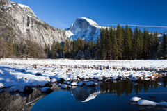 Half dome reflection Stock Photography