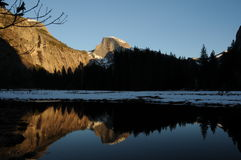Half dome reflection Stock Image