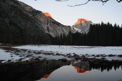 Half dome reflection Stock Photos