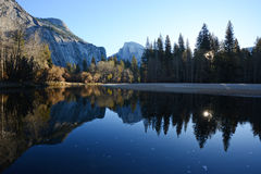 Half dome reflection Royalty Free Stock Image
