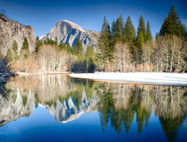 Half Dome Reflections Stock Image