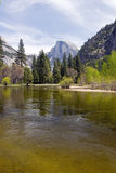 Half dome and river Stock Photo