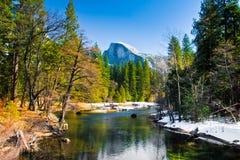 Half Dome Rock , the Landmark of Yosemite National Park,California. United States Royalty Free Stock Photography