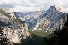 Half Dome and Royal Arches and Yosemite Valley From Glacier Point. Royalty Free Stock Images