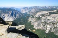 Half Dome's Famous Diving Board, Yosemite National Park, California Royalty Free Stock Image