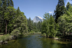 Half Dome from Sentinel Bridge Stock Image