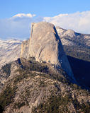 Half Dome at Sunset. Snow covered Sierra mountains behind Half Dome at sunset royalty free stock photography