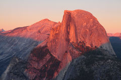 Half Dome at sunset. Yosemite's Half Dome at sunset Royalty Free Stock Photo