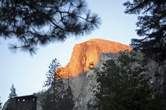 Half Dome at sunset Royalty Free Stock Image