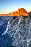 Half Dome at sunset. In Yosemite National Park California USA Royalty Free Stock Photos