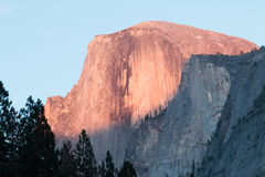Half Dome sunset alpenglow Stock Image