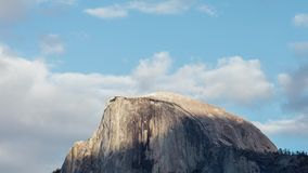 Half dome at sunset in Yosemite stock footage