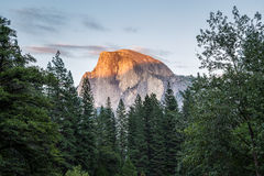 Half Dome at sunset in  Yosemite National Park, California, USA. Royalty Free Stock Images