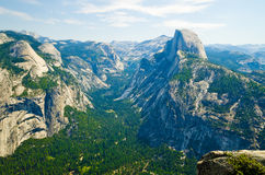Half Dome and valley in Yosemite National Park Royalty Free Stock Photography
