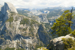 Half dome view at Yosemite Stock Photography