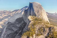 Half Dome Views from Pohono Trail. Stock Image