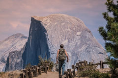 The Half Dome way Royalty Free Stock Image