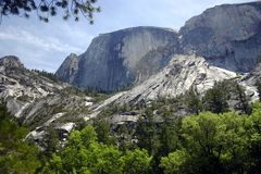 Half Dome and Wilderness Royalty Free Stock Photography