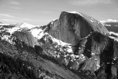 Half Dome in the Winter stock photography